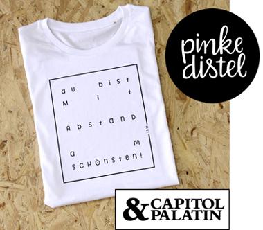 Benefiz-T-Shirt von Pinke Distel